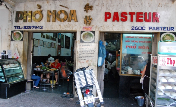 One of my favourite pho shops in Saigon - the Breakfast of Champions!