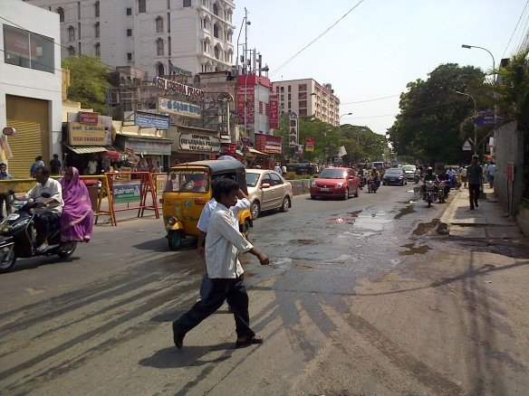 Local street in Chennai
