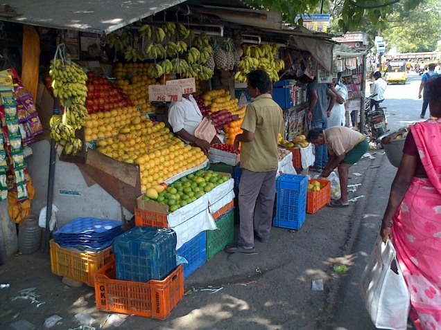 Local fruit and veg seller