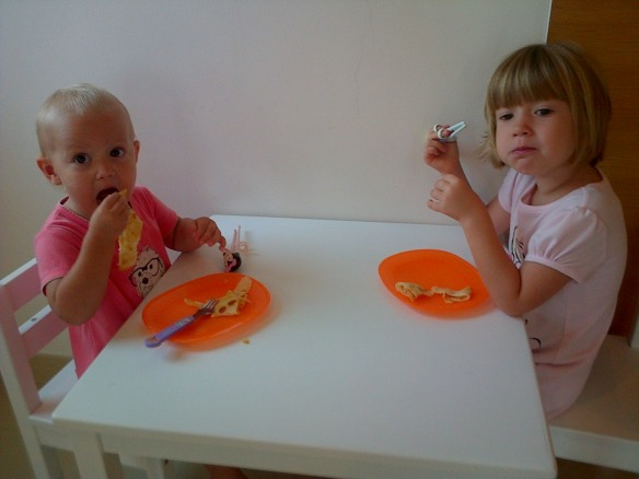 How to eat pancakes?  Flo - with chop sticks.  Martha - no utensils required thanks