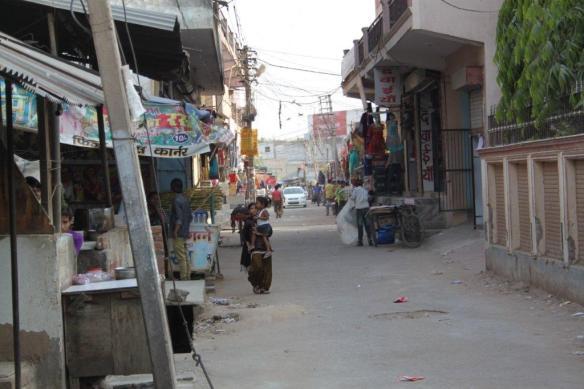 Street outside EMPHASIS Delhi's Community Centre