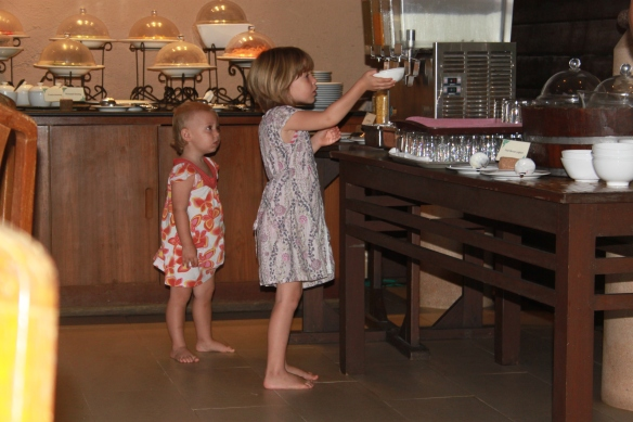 Fuelling up at the buffet for more cereal fun
