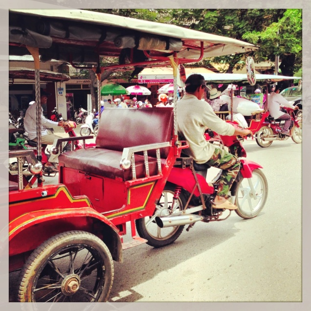 In Cambodia, have tuk-tuk, will travel...