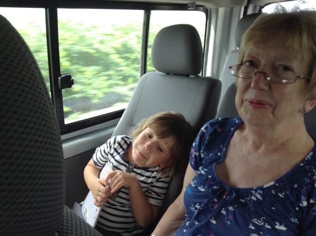 Reading with Grandma on elephant safari