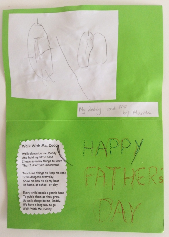 Martha's Father's Day card